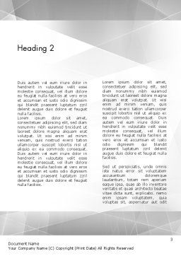 Students at Work Word Template Second Inner Page
