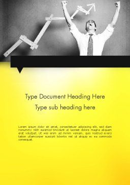 Winning Businessman Word Template, Cover Page, 11594, Business Concepts — PoweredTemplate.com