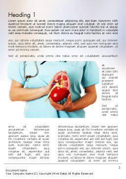 Kidney Health Word Template, First Inner Page, 11595, Medical — PoweredTemplate.com