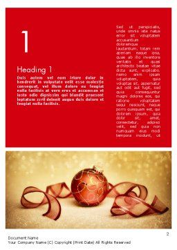 Red-gold Christmas Theme Word Template, First Inner Page, 11596, Holiday/Special Occasion — PoweredTemplate.com