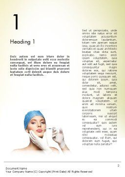 Cosmetic Injection Word Template, First Inner Page, 11597, Medical — PoweredTemplate.com