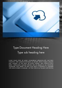 Upload to Cloud Button Word Template, Cover Page, 11598, Technology, Science & Computers — PoweredTemplate.com