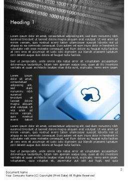 Upload to Cloud Button Word Template, First Inner Page, 11598, Technology, Science & Computers — PoweredTemplate.com