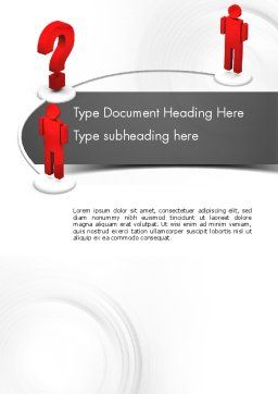 Trying to Communicate Word Template, Cover Page, 11600, Telecommunication — PoweredTemplate.com