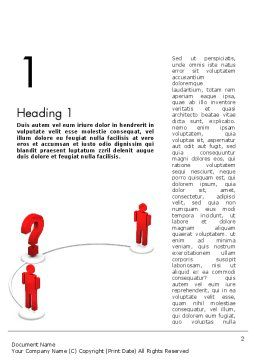 Trying to Communicate Word Template, First Inner Page, 11600, Telecommunication — PoweredTemplate.com