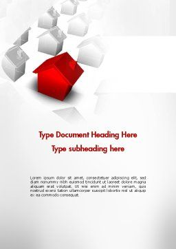 Suburban Property Word Template, Cover Page, 11601, 3D — PoweredTemplate.com