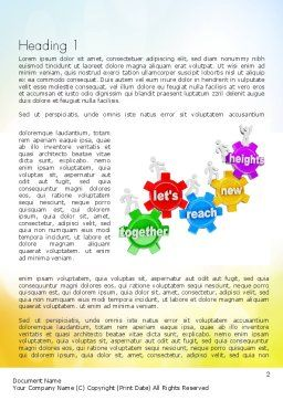 Working Together Team Word Template First Inner Page