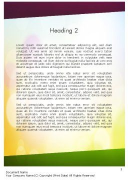 Working Together Team Word Template Second Inner Page