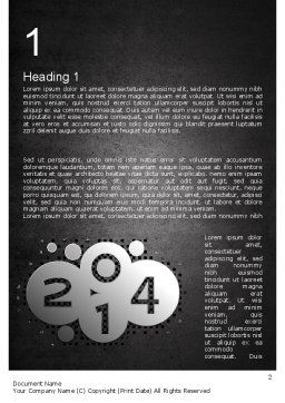 Metal Style 2014 Word Template, First Inner Page, 11605, Holiday/Special Occasion — PoweredTemplate.com
