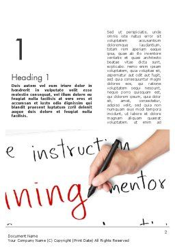 Training Plan Word Template First Inner Page