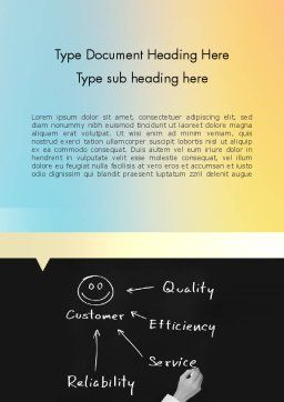Customer Satisfaction Word Template, Cover Page, 11608, Education & Training — PoweredTemplate.com