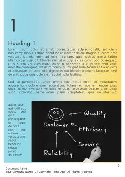 Customer Satisfaction Word Template, First Inner Page, 11608, Education & Training — PoweredTemplate.com