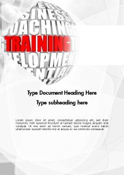 Training and Development Words Word Template, Cover Page, 11609, Education & Training — PoweredTemplate.com