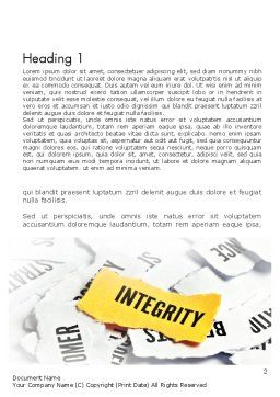 Integrity Concept Word Template, First Inner Page, 11612, Business Concepts — PoweredTemplate.com