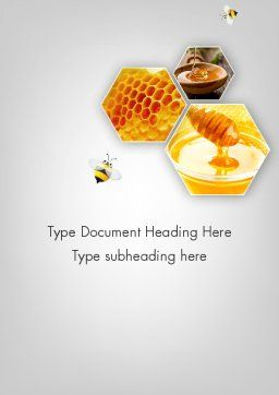 Honey Production Word Template Cover Page