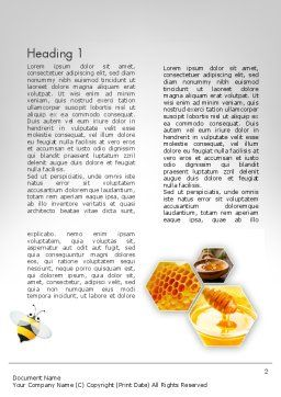 Honey Production Word Template First Inner Page