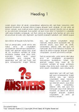 Red Questions and Answers Word Template First Inner Page