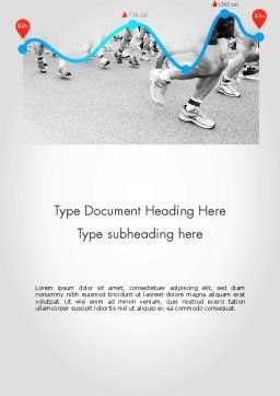Run Tempo Word Template, Cover Page, 11622, Sports — PoweredTemplate.com
