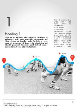 Run Tempo Word Template, First Inner Page, 11622, Sports — PoweredTemplate.com