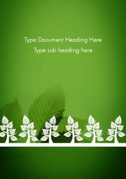 Tree Leaves Word Template, Cover Page, 11625, Nature & Environment — PoweredTemplate.com