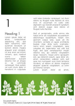 Tree Leaves Word Template First Inner Page