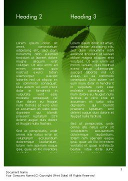 Tree Leaves Word Template Second Inner Page