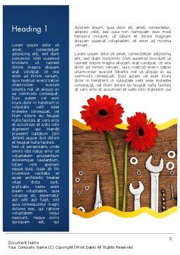 Flowers and Repair Tools Word Template, First Inner Page, 11627, Careers/Industry — PoweredTemplate.com