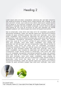 Green Fuel Word Template, Second Inner Page, 11631, Technology, Science & Computers — PoweredTemplate.com