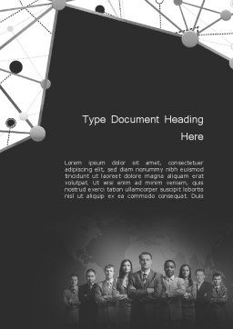 Project Team Word Template, Cover Page, 11633, Business — PoweredTemplate.com