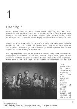 Project Team Word Template, First Inner Page, 11633, Business — PoweredTemplate.com