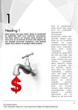 Money Leak Word Template, First Inner Page, 11637, Financial/Accounting — PoweredTemplate.com