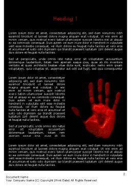 Blood Hand Word Template, First Inner Page, 11640, Legal — PoweredTemplate.com