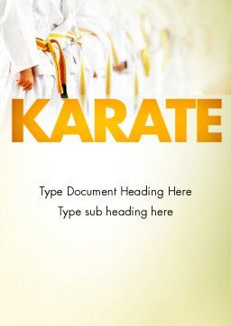Martial Arts Training Word Template, Cover Page, 11641, Sports — PoweredTemplate.com