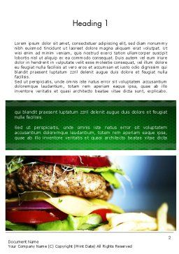Yummy Food Word Template, First Inner Page, 11642, Food & Beverage — PoweredTemplate.com