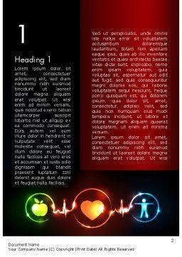 Wellness Symbol Word Template, First Inner Page, 11646, Medical — PoweredTemplate.com
