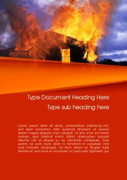 Burning House Word Template, Cover Page, 11648, Careers/Industry — PoweredTemplate.com