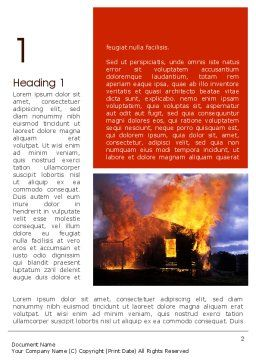 Burning House Word Template, First Inner Page, 11648, Careers/Industry — PoweredTemplate.com