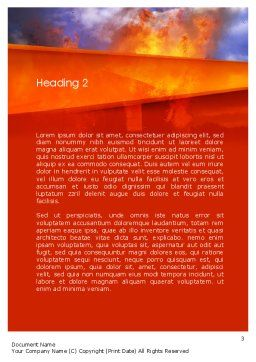 Burning House Word Template, Second Inner Page, 11648, Careers/Industry — PoweredTemplate.com