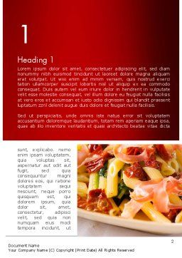 Italian Cuisine Word Template, First Inner Page, 11650, Food & Beverage — PoweredTemplate.com