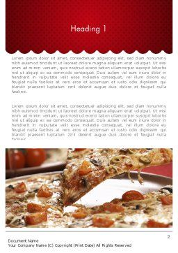 Delicious Pizza Recipes Word Template, First Inner Page, 11651, Food & Beverage — PoweredTemplate.com