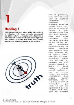 Truth Compass Word Template, First Inner Page, 11652, Business Concepts — PoweredTemplate.com