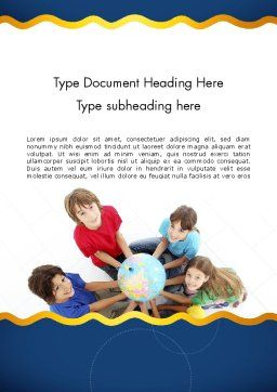 Kids Environment Word Template Cover Page