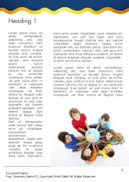 Kids Environment Word Template First Inner Page