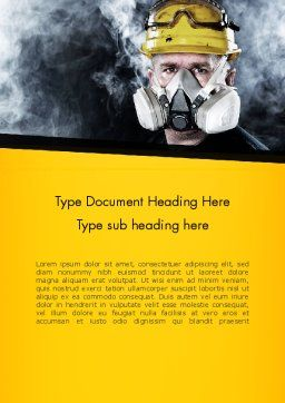 Respiratory Protection Word Template, Cover Page, 11655, Careers/Industry — PoweredTemplate.com