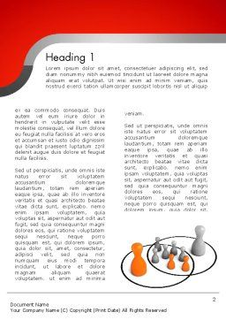Spheres of Influence Intersection Word Template, First Inner Page, 11656, Business Concepts — PoweredTemplate.com