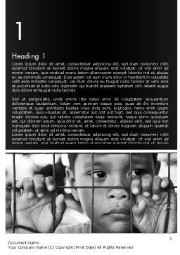 Kid Behind a Fence Word Template, First Inner Page, 11657, Legal — PoweredTemplate.com