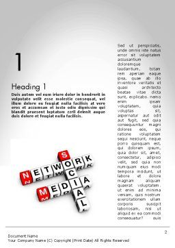 Social Media Network Crossword Word Template First Inner Page