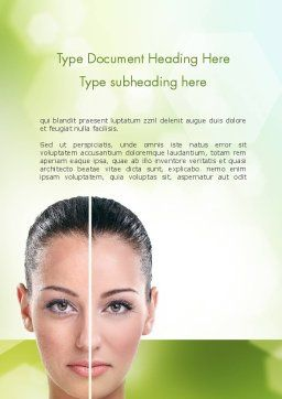 Woman Face Before and After Word Template Cover Page