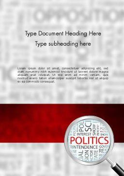 Politics Word Template Cover Page