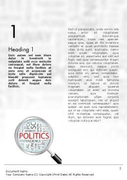 Politics Word Template First Inner Page